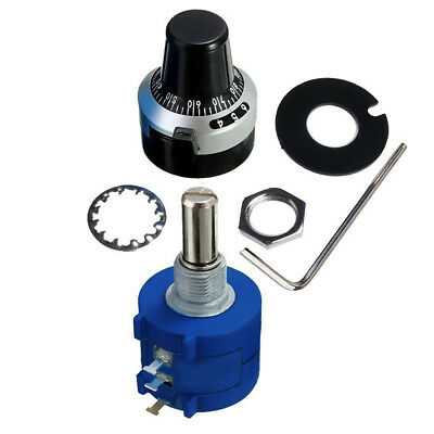 with Turn Counting Dial 100K Ohm 3590S-2-104L Rotary Potentiometer Pot 10 T L5W5