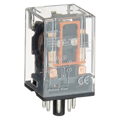 AC 220V/230V Coil Voltage PCB Power Relay 8 Pins DPDT 2NO 2NC MK2P-1 G4Y2 F4J0