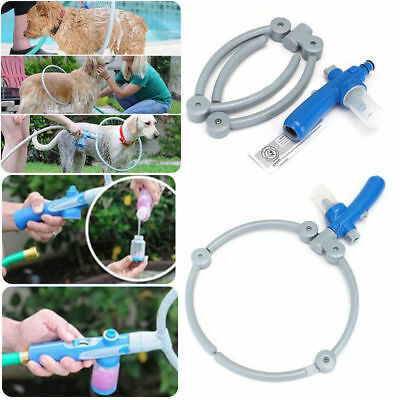 360° Adjustable Pet Dog Puppy Shower Woof Washer Bathing Shower Cleaning Ring