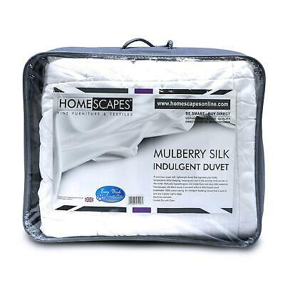 Natural Mulberry Silk Filled Duvets 4.5 and 13.5 Togs for Summer & Winter Season