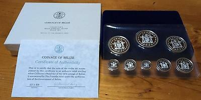 1974 BELIZE (formerly BRITISH HONDURAS) PROOF SET in STERLING SILVER..AS NEW.