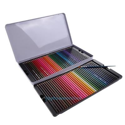 72 Pcs Water Color Soluble Drawing Sketching Non-toxic Pencil+Brush Artist #JT1