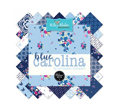 Quilting Fabric Charm Pack - Riley Blake Fabrics - Blue Carolina
