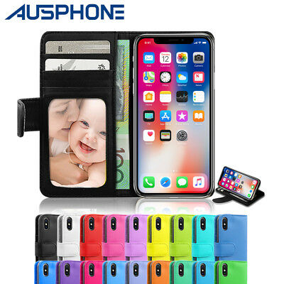 Leather Wallet Credit Card Holder Case Flip Cover for Apple iPhone 7 8 XS Max XR