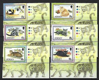 Jersey 2002 Cats Marginal Set Of 6 Unmounted Mint, Mnh