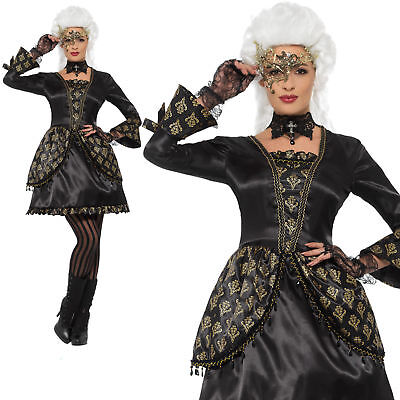 Masquerade Costume Halloween Venetian Womens Ladies Adult Fancy Dress S-L