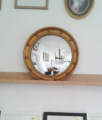 Mirror; Antique Style Gilt framed convex.10% off weekly! Pictures / description
