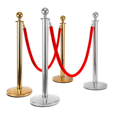 2x Gold/Sliver Heavy Duty Crowd Control Barrier + 1x 1.5m Rope / 1x 1.5m Rope