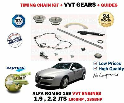 For Alfa Romeo 1.9 2.2 Jts 2005-2011 Timing Chain Kit + Camshaft Vvt Gears Set