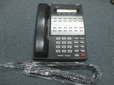 NEC BDS DS1000 DS2000 22 Button Display Telephone 80573 DX7NA-12TUX Charcoal