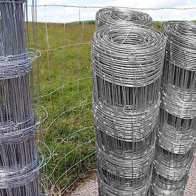 50m L8/80/15 Stock Fencing Sheep Pig Cattle Livestock Fence Galvanised Wire Roll