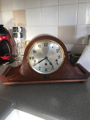 Stunning Rare Mahogany/Burr Walnut Cased Westminster Chimes Clock