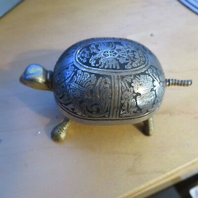 Antique Toledo turtle Hotel service bell still works, great detail, tail push in