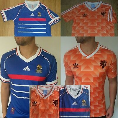 Holland Netherlands 1988, France Blue Home 1998 98 Retro Vintage Football Shirt
