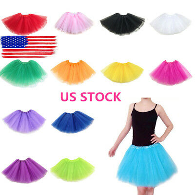 Women Adult Fancy Dancewear Tutu Pettiskirt Shirt Skirts Dance Fairy Tulle Dress