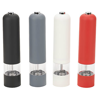 Battery Operated Electric Soft Touch Plastic Salt And Pepper Mill Grinder Light