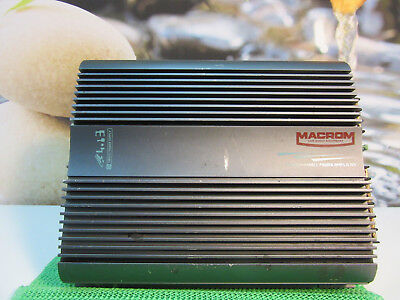 MACROM 44.13 CAR AUDIO POWER AMPLIFIER. 4 x 30 W RMS.CLEAN&TESTED&SERVICED 100%.