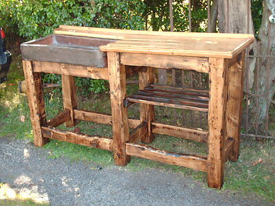 Large Rustic Reclaimed Sink And Stand