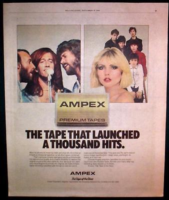 1980 The Bg's & Blondie For Ampex Tapes Color Photo Ad