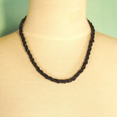 40PC WHOLESALE LOT 18 inch Black Handmade Beaded Rope Chain Necklaces