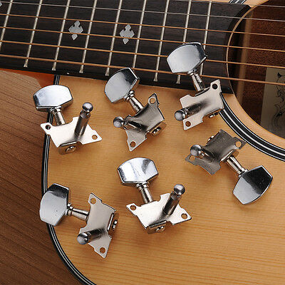 6 Chrome Guitar String Tuning Pegs Tuners Machine Heads Acoustic Electric