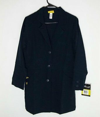 New With Tags WonderWink Women's Four Stretch Lab Coat Navy Extra Small RTLS $30