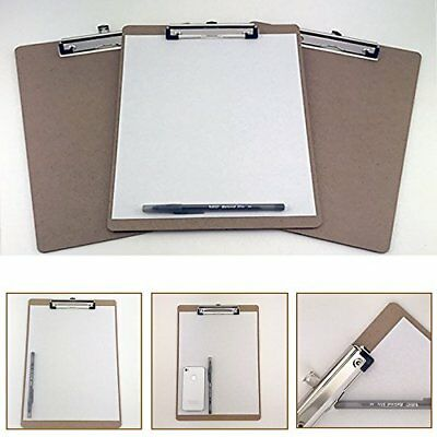 6pcs Letter Size Clipboard Document Holder Desk Office Supplies Organizer   LOT