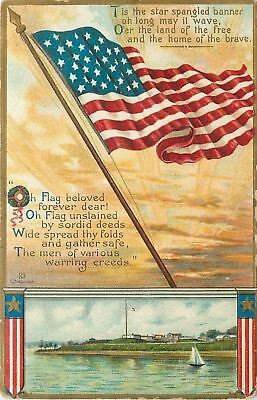 Patriotic~Star Spangled Banner~Land of Free~Waves Over Fort~Artist Chapman