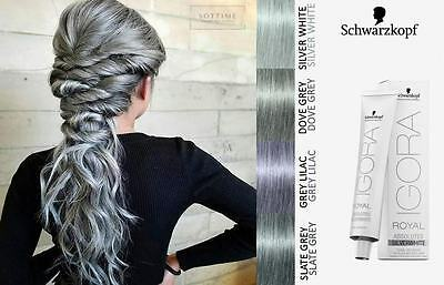 Schwarzkopf Igora Royal Grey-Lilac Dove-Grey, Silver, Slate Grey Hair Dye Colour