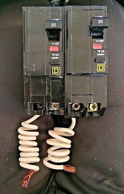 Square D AB4475 Circuit Breaker 20A 2 Hole New
