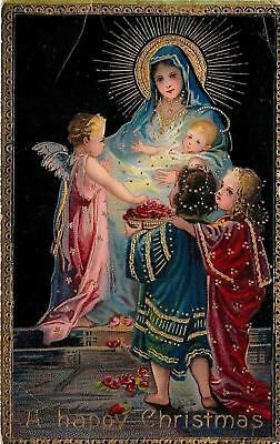 Christmas~Mother & Child~Lil Angel Watches~Girls Bring Red Petals~Gold~Emb~GEL