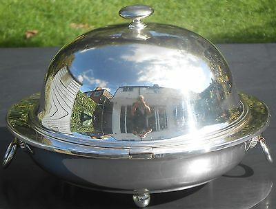 Antique French Dish Warmer - Silver Plated - With Elkington Dish Cover