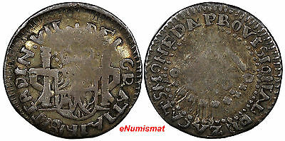 Mexico ZACATECAS Ferdinand VII Silver 1811 LVO Real FULL LEGEND KM# 183