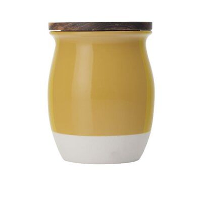 NEW Maxwell & Williams Artisan Dipped Canister 1L Mustard