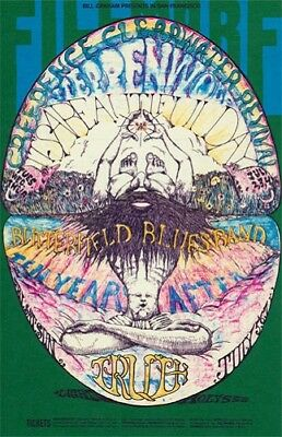 Creedence Clearwater Revival POSTCARD Steppenwolf Fillmore BG127 Lee Conklin