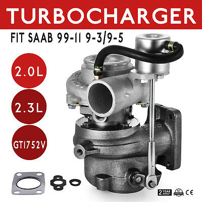 GT1752 Turbocharger for Saab 9-3 9-5 9.3 9.5 B205E B235E GT1752S 452204 Pop