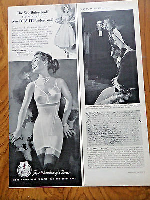 1953 Life Formfit Bra Girdle Ad  New New Outer-Look Under-Look