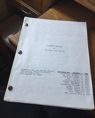 "Script "" HOLLYWOOD HOMICIDE "" 131 pages  Used on The Movie !!"