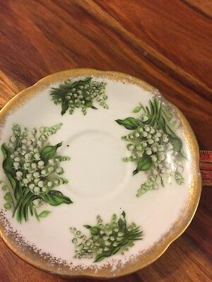 Napco China Lily of the Valley teacup saucer