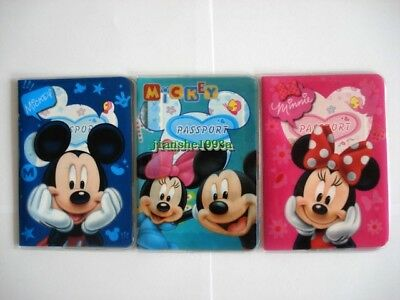 Boys Girls Minnie Mouse Mickey Mouse Kids Passport Cover Case Protector Holder