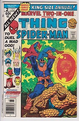 Marvel Two-In-One Annual #2 F/VF Jim Starlin Thanos Saga Cover and Story S