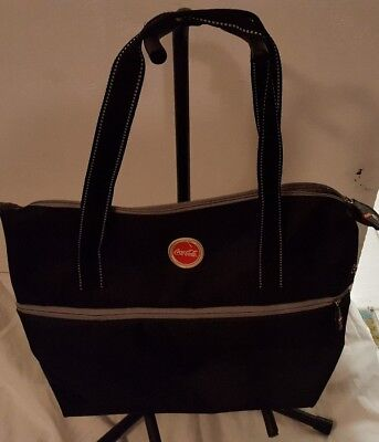 COCA-COLA Large Black Nylon Tote Bag