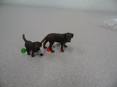 Schleich Labrador Female and Pup Set 16388 16387 Figure Toy Retired W/Tags