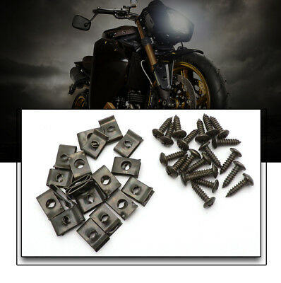 20 Set Plastic Body Screw and Clips Chinese GY6 Scooter 50-150 Useful