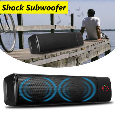 8 Horn TV Subwoofer Speaker Wireless Bluetooth Sound Bar Box Home Theater System