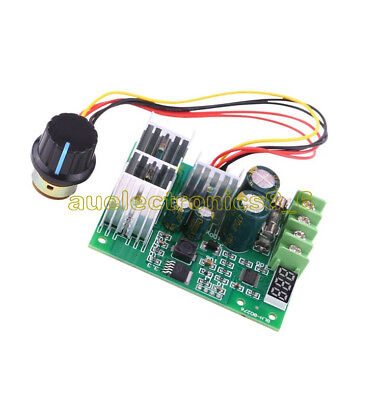 30A DC6-60V PWM Motor Speed Controller Board Dimmer Current Regulator+ Display U