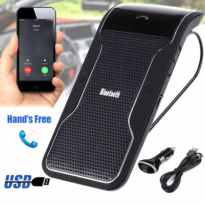 Wireless Bluetooth Multipoint Hands-free Speakerphone Speaker Kit Car Sun Visor