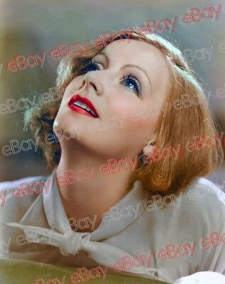 Greta Garbo COLOR - 8x10 PHOTO! Original Negative transparency Vintage #1