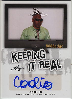 2013 Leaf Pop Century Keeping It Real Auto: Coolio -Autograph Gangsta's Paradise
