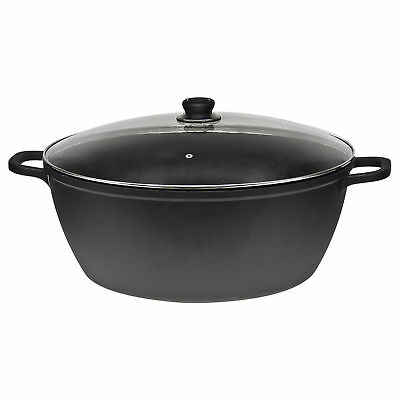 11L 36cm NON STICK CASSEROLE POT COOKING STEW SOUP PAN STOCKPOT HOB